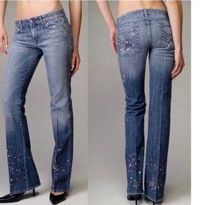 7 for all mankind Paint Splatter Jeans Flare Leg
